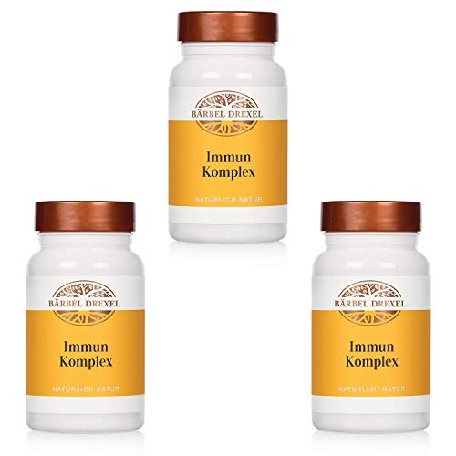 BÄRBEL DREXEL® Immun Komplex Kapseln (3x 162 Stk) Immunsystem Stärken, Vitamine, Propolis, Echinacea 100% Natürliche Herstellung Deutschland Vitaminkomplex Vitamin C