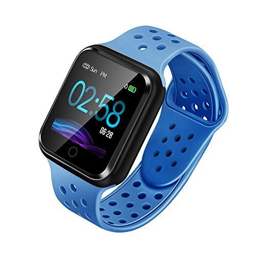 WAFA Fitness Armband mit Pulsmesser Blutdruck, Wasserdicht Fitness Tracker Smartwatch Sportuhren Aktivitätstracker Pulsuhren Schlafen Sport Data Monitor Vibrationsalarm Anruf SMS für Damen Männer