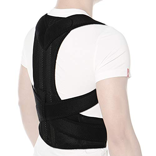 CFR - Banda correctora de postura ajustable para la espalda, hombro y corrector de postura de la espalda mejorado