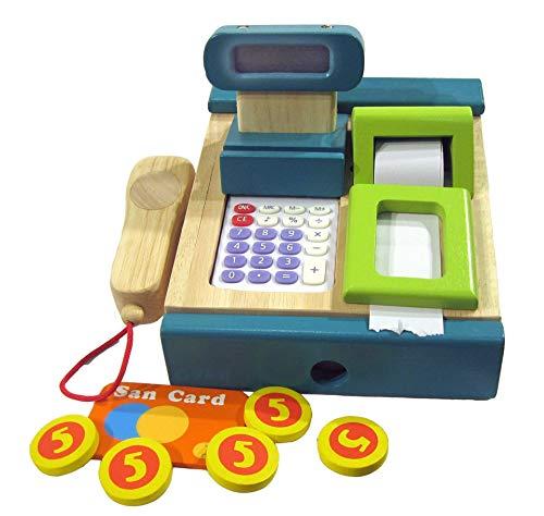 Grüne Kinder Kasse mit Scanner, Kaufladenkasse, Kaufladenzubehör