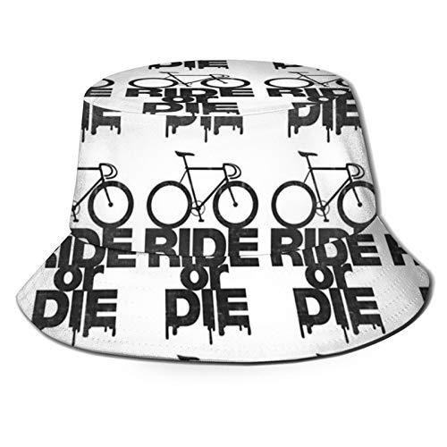popluck Sombrero de pescador para montar en bicicleta o morir, unisex, plegable, impresión 3D al aire libre