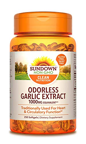1. Sundown Naturals – Odorless Garlic Extract