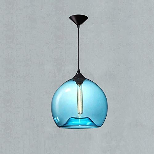 HSLJ1 Lámparas de techo de moderna, soplado a mano azul de la...