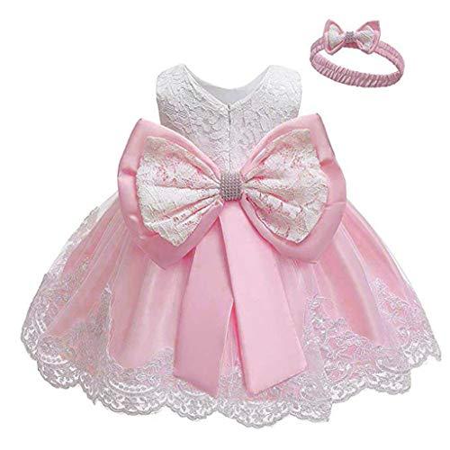 Julhold Conjunto de falda de encaje para recin nacido, con lazo, princesa, vestido formal, tut y diadema