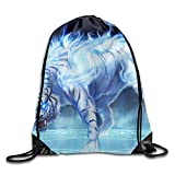Ovilsm Cord Bag Sackpack Gym Drawstring Bags Tiger Fire Rage Eyes Draw Rope Shopping Travel Backpack Tote Student Camping