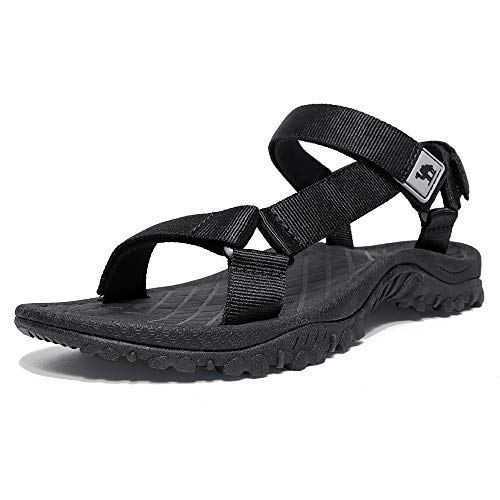 CAMEL CROWN Hiking Sport Sandals for Men Anti-skidding Water Sandals Comfortable Athletic Sandals for Outdoor Wading Beach Black