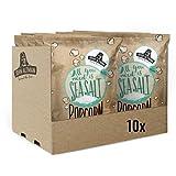 John Altman - 10 bolsas de palomitas de maíz orgánicas - Sal de Mar - Vegano - Sin Gluten - Bajo en Calorías - 100% Natural - con Aceite de Coco Orgánico - Sin Aditivos Artificiales- 10x60 Gramos