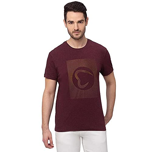 Being Human Half Sleeves Polyester Cotton Regular Fit Mens T-Shirt (S21BHTS21131WM004,Purple,Large)