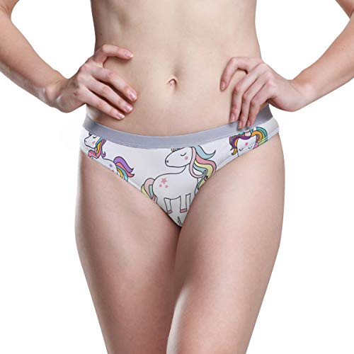 DEZIRO Damen Stretch Bikini Slip Essentials Noble Unicorns Gr. Medium, 1