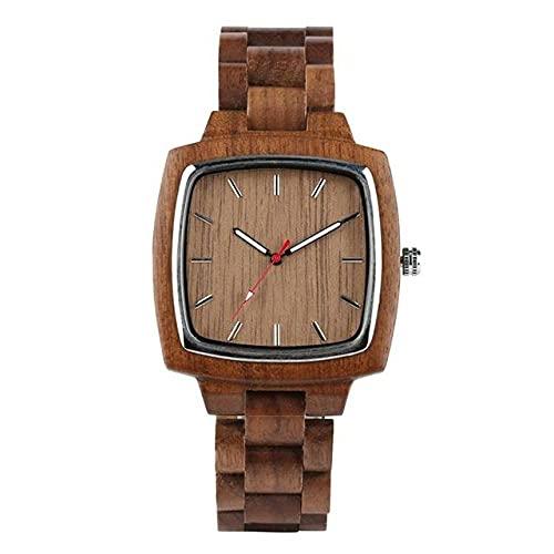 KUELXV Reloj de Pulsera de Madera Relojes únicos de Madera de Nogal para Amantes, Parejas, Hombres, Reloj para Mujeres, Banda leñosa, Regalos de Recuerdo, para Hombres