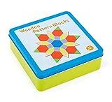 Small Foot Company- Juego de colocación Tangram, en Caja de hojalata,Incl 16 Variantes de construcción para una diversión de puzles sin Fin juguetes, Multicolor (11357) , color/modelo surtido