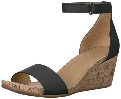 Naturalizer Women's Areda Wedge Sandals, Black, 5
