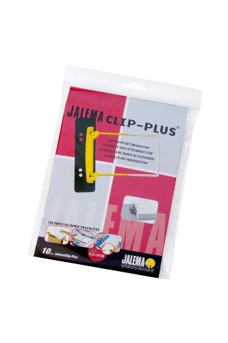 JalemaClip-Plus, Jalema 5712600, Archivbinder für bündelung von Dokumenten mit Aufhängeleiste für Ringbuch, 10er Packung, gelb/weiß