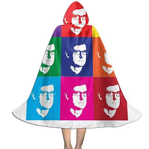 KUKHKU Louis Theroux Andy Warhol Capa con Capucha Unisex para niños, para Halloween, Navidad, decoración de Fiestas, Disfraces de Cosplay