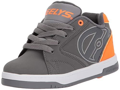 Heelys Boys' Propel 2.0 Tennis Shoe, Charcoal/Orange/Grey, 6 M US