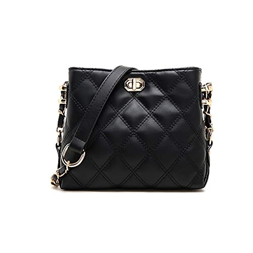"""Size:8""""L X 7""""H X 3""""D.This Crossbody Bag features adjustable long shoulder strap with 22 inches drop length. Stylish & Classic Design: High-grade rhombic texture Quilted design with high quality materials, Lightweight and stylish. The Crossbody bag is..."""