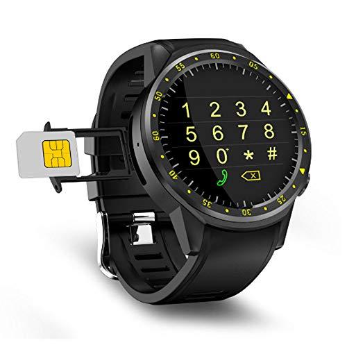 AXDNH Männer Smart Watch Sports Positionierung Bluetooth-Kommunikation Herzfrequenzmonitor Pedometer kann Telefon WiFi-Netzwerk HD-Kamera Musik Spielen Smart Armband anrufen