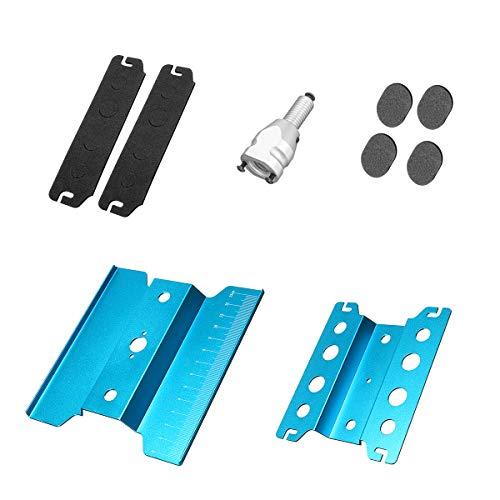 Preisvergleich Produktbild KUNSE Metall Reparatur Stationsarbeiten Stehen Für TRX-4 Scx10 D90 1:8 01:10 Rc Auto Montage Werkzeug-Blau