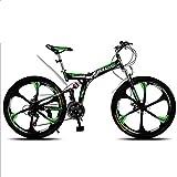 TX Vélo De Montagne Pliable 26 Pouces 21 24 27 30 Vitesse Variable Amortisseurs De Suspension...