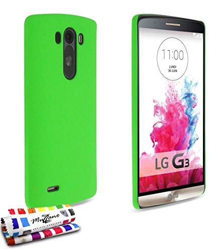 Ultraplatte harde beschermhoes LG G3 D855 [Le Pearls Premium] [Grun] van MUZZANO + stift en microvezeldoek MUZZANO® GRATIS - De ultieme en duurzame beschermcase voor uw LG G3 D855