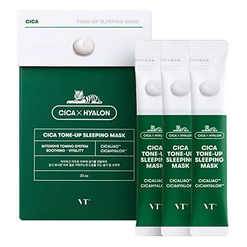 VT COSMETICS CICA Tone-Up Sleeping Mask- BTS Skincare   BTS Mask   Tone up Sleeping Mask   Brightening mask   Centella Asiatica Extract   Korean Skin Care