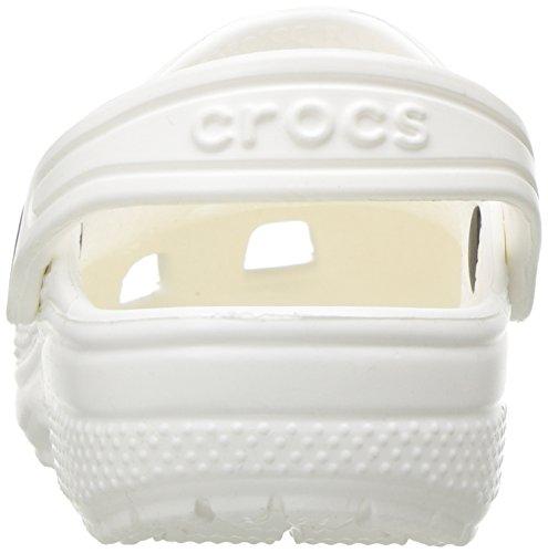 Crocs Unisex Kids Classic Clogs, White, 2 UK