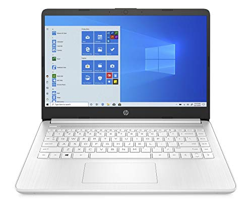 HP 14-inch Laptop, AMD 3020e Processor, AMD Radeon Graphics, 4 GB RAM, 64 GB eMMC, Windows 10 Home in S Mode (14-fq0070nr, Snowflake White) (Renewed)