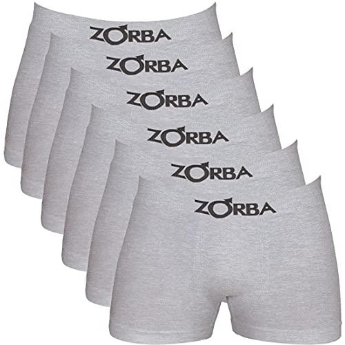 Kit c/ 6 Cuecas Zorba Boxer Seamless 781 Mescla Claro - M