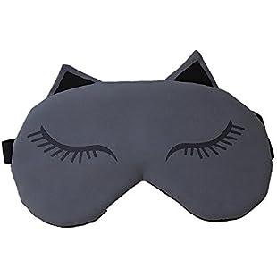 Zedtom ladies sleep mask, eye mask, sleeping mask with cooling pad for travel (grey).