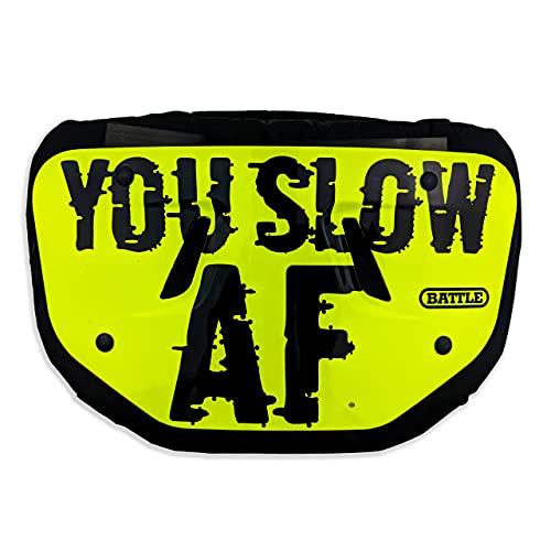 Battle Sports SLOW AF Chrome Football Back Plate - (Adult)
