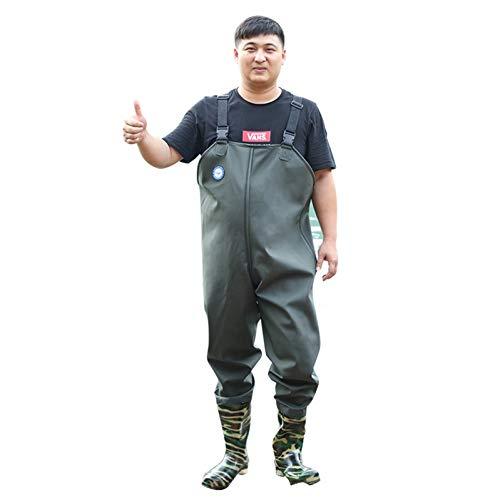 Zeng de Ken LI Waders - Petto da uomo con stivali impermeabili (44)
