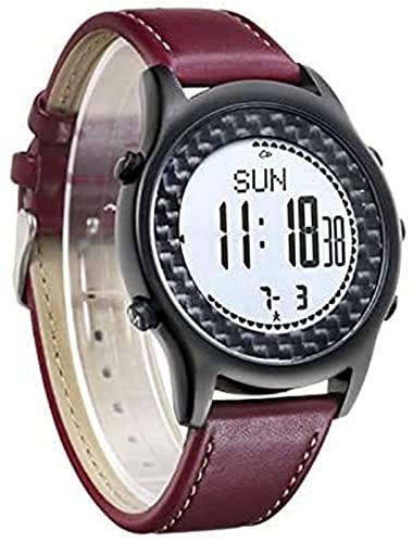 TCHENG Al Aire Libre Impermeable SmartWatchCassPass Barómetro de Pesca Montañismo Altitud Temperatura Temperatura Multifunción Deportes Smart Hombres Mujeres Reloj (Color : Red)