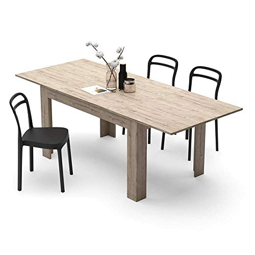 Mobili Fiver, Extendable Dining Table, Easy, Oak, Laminate-finished, Made in Italy