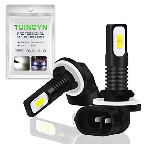 TUINCYN 881 - Bombilla LED antiniebla superbrillante de 6500 K, 2400 lúmenes, 886 889 894 896 3570 CSP-Chips luz diurna DRL, 75 W, 12 V-24 V CC (paquete de 2)