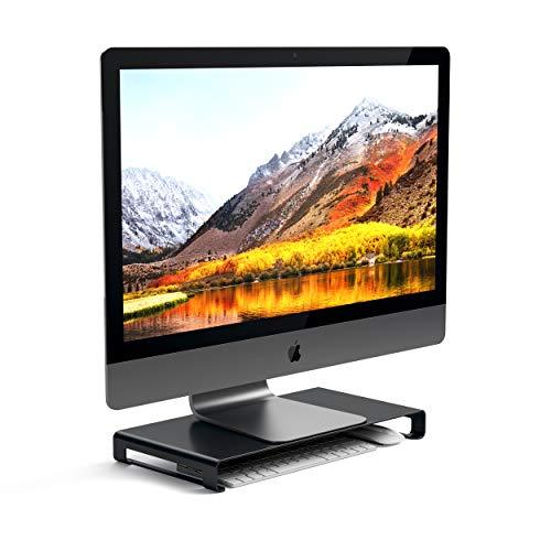 Satechi Soporte Universal de Aluminio para Monitor Compatible con 2020/2019/2018 MacBook Pro, 2020/2018 MacBook Air, iMac/iMac Pro, Google Chromebook, Microsoft Surface, ASUS y más (Gris espacial)