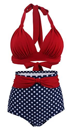 Bslingerie® - Conjunto de bikini para mujer, diseño retro