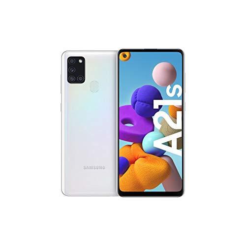 Samsung Galaxy A21s Android Smartphone ohne Vertrag, 4 Kameras, 5.000 mAh Akku, 6,5 Zoll HD+ Display, 32 GB/3 GB RAM, Dual SIM, Handy in weiß, deutsche Version