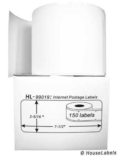 Compatible with DYMO 99019 1-Part Internet Postage Labels (2-5/16' x 7-1/2') - BPA Free! (6 Rolls; 150 Labels per Roll)