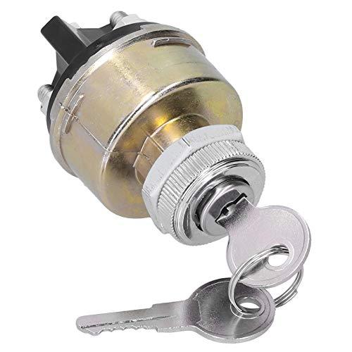 Interruptor de Encendido Interruptor de Encendido de Repuesto Universal para automóvil Interruptor de Arranque de Encendido de Metal Controles de Bloqueo de Barril KS6180 W / 2 Llaves