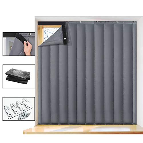 Nileco Verdikke winddichte gordijnen voor deuren en deuren, winter waterdicht deurgordijn, terras, woonkamer, slaapkamer, raambekleding
