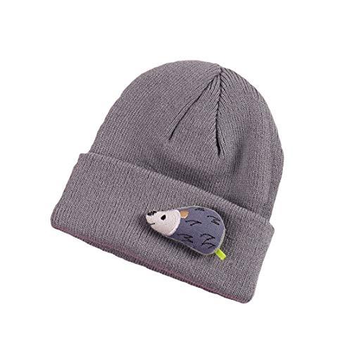 HIOD Niño Bebé Sombrero de Invierno Niños Gorros Calientes Encantador Sombreros de Punto Suave para Niños Niñas 2-8 Años,Gray