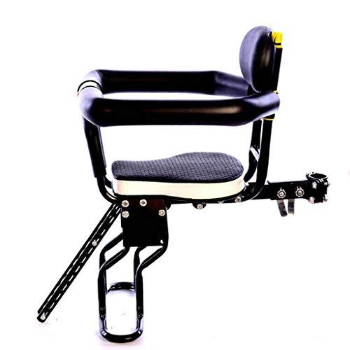 Asiento delantero bici del bebé, asiento de la bicicleta infantil para niños, bicicleta de niño asiento asientos de seguridad para bicicletas asiento de seguridad para niños Carrier frontal-negro