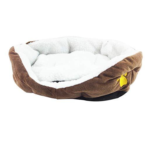 Feli546Bruce Cama para mascotas, cojín de felpa ultra suave, cama para dormir, manta cálida para perros y gatos, cojín de felpa, cama grande y cálida para cachorros y gatos, saco de dormir