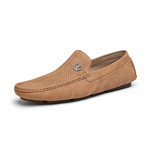 Bruno Marc Men's 3251314 Tan Penny Loafers Moccasins Shoes Size 13 M US