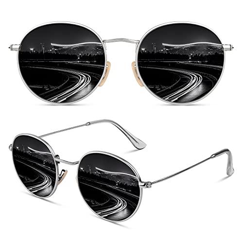 CGID Retro Vintage Sonnenbrille rund