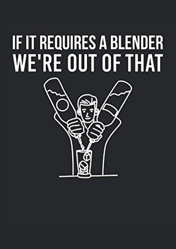 Barista, se ha bisogno di un frullatore, non ce la faremo: Quaderno a quadretti Quaderno a quadretti 120 pagine college journal per barman, barman, camerieri, bartender