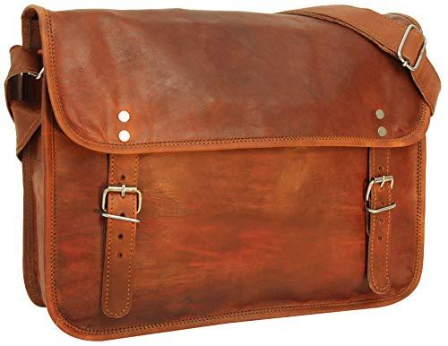 Gusti Leder nature'John 15' Genuine Leather Satchel Messenger Business Office Briefcase Vintage Unisex Brown U2