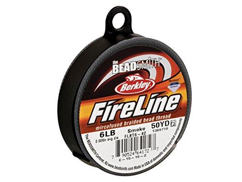 FireLine Garn für Perlenarbeiten 4LB, Rauchgrau, 0,15mm, 45m