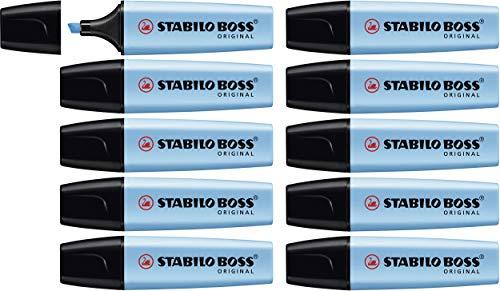 Evidenziatore - STABILO BOSS ORIGINAL - Confezione da 10 - Azzurro