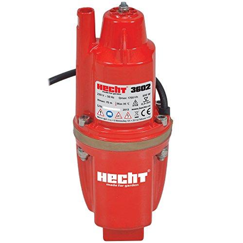 HECHT Elektro-Membranpumpe 3602 Tief-Brunnenpumpe (600Watt, Fördermenge: 1400 liter pro Stunde)